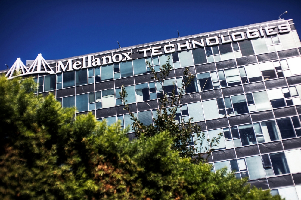 The logo of Mellanox Technologies is seen on one of its office buildings in the northern Israeli town of Yokneam in this March 4, 2019 file photo. — Reuters