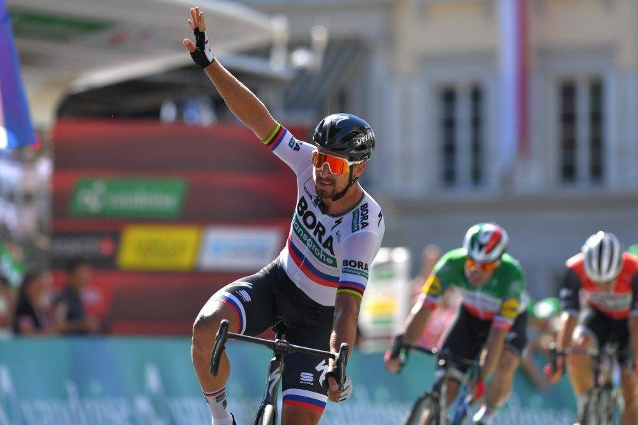 Peter Sagan wins stage three of the 2019 Tour de Suisse on Monday. — AFP