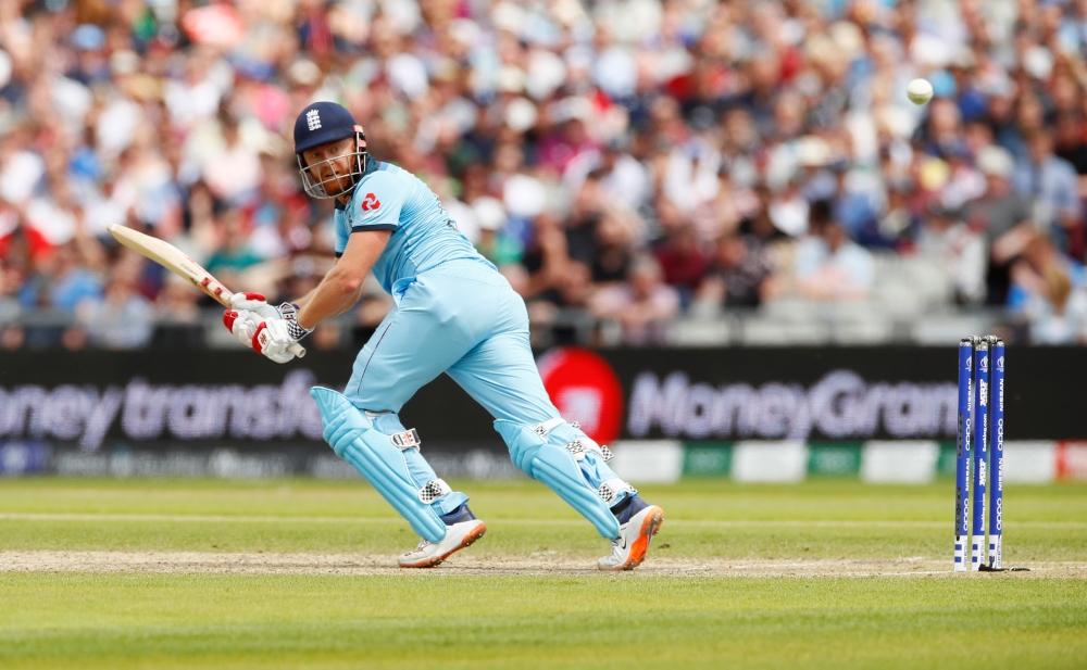 England's Jonny Bairstow in action during the ICC Cricket World Cup match against Afghanistan at the Old Trafford, Manchester, Britain, on Tuesday. — Reuters
