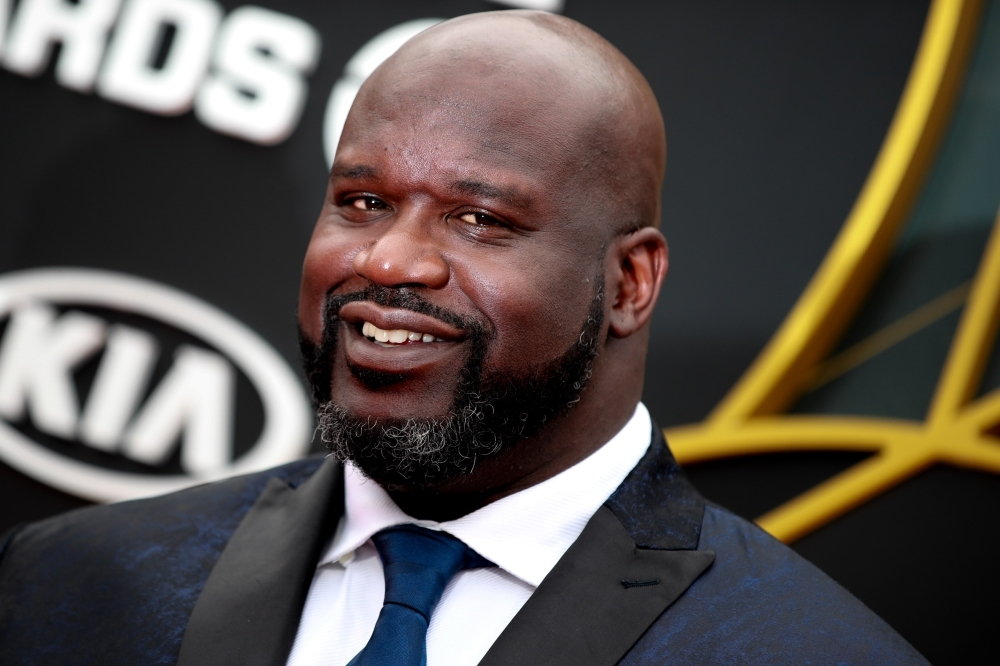 Shaquille O'Neal attends the 2019 NBA Awards at Barker Hangar on Monday in Santa Monica, California. — AFP
