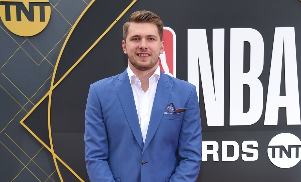 Slovenian basketball player Luka Doncic arrives for the 2019 NBA Awards at Barker Hangar on June 24, 2019 in Santa Monica, California.  Luka Doncic won Rookie of the Year Award. — AFP