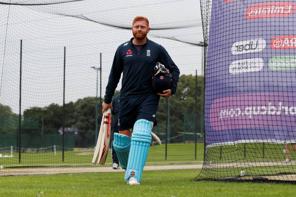 England's Jonny Bairstow during nets in the ICC Cricket World Cup at the Merchant Taylors School, Northwood, Britain on Sunday. — Reuters