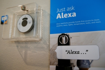 Prompts on how to use Amazon's Alexa personal assistant are seen in an Amazon 'experience center' in Vallejo, California, in this May 8, 2018 file photo. — Reuters