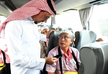 Several pilgrims, arriving here recently from Pakistan, Indonesia, Bangladesh and Malaysia to perform Haj this year, have claimed that the Makkah Road Initiative has saved much of their time and effort to complete visa, travel and customs procedures in their home countries. — SPA photos