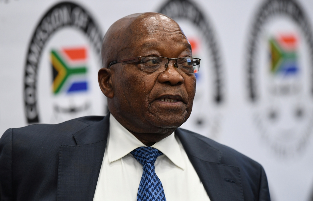 Former South African President Jacob Zuma appears before the Commission of Inquiry into State Capture in Johannesburg, South Africa, on Tuesday. — Reuters