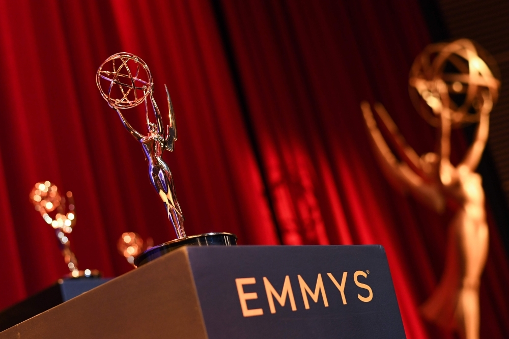 A view of the set is seen for the 71st Emmy Awards Nominations Announcement at the Television Academy in North Hollywood, California, on Tuesday. — AFP
