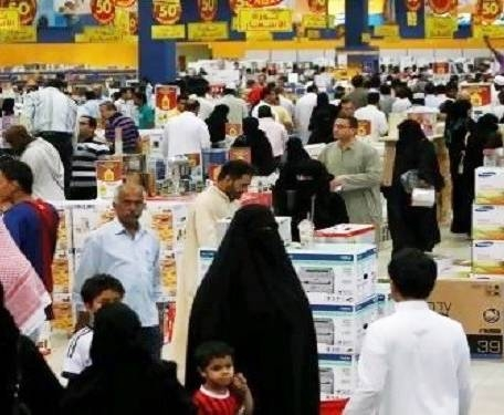 Consumers seen shopping in a Saudi supermarket in this file picture.