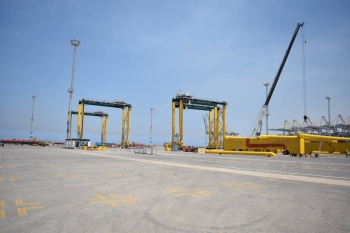 King Abdullah Port has received 28 state-of-the-art Liebherr cranes to start the expansion of the container terminals. — Courtesy photo