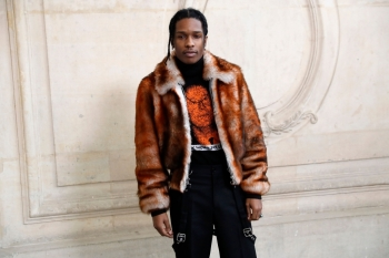 US rapper ASAP Rocky poses before the Christian Dior 2017 spring/summer Haute Couture collection in Paris in this Jan. 23, 2017. — AFP