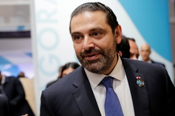 Lebanon's Prime Minister Saad Hariri gestures during the Paris Peace Forum after the commemoration ceremony for Armistice Day, 100 years after the end of the World War I, in Paris, France, in this Nov. 11, 2018 file photo. — Reuters