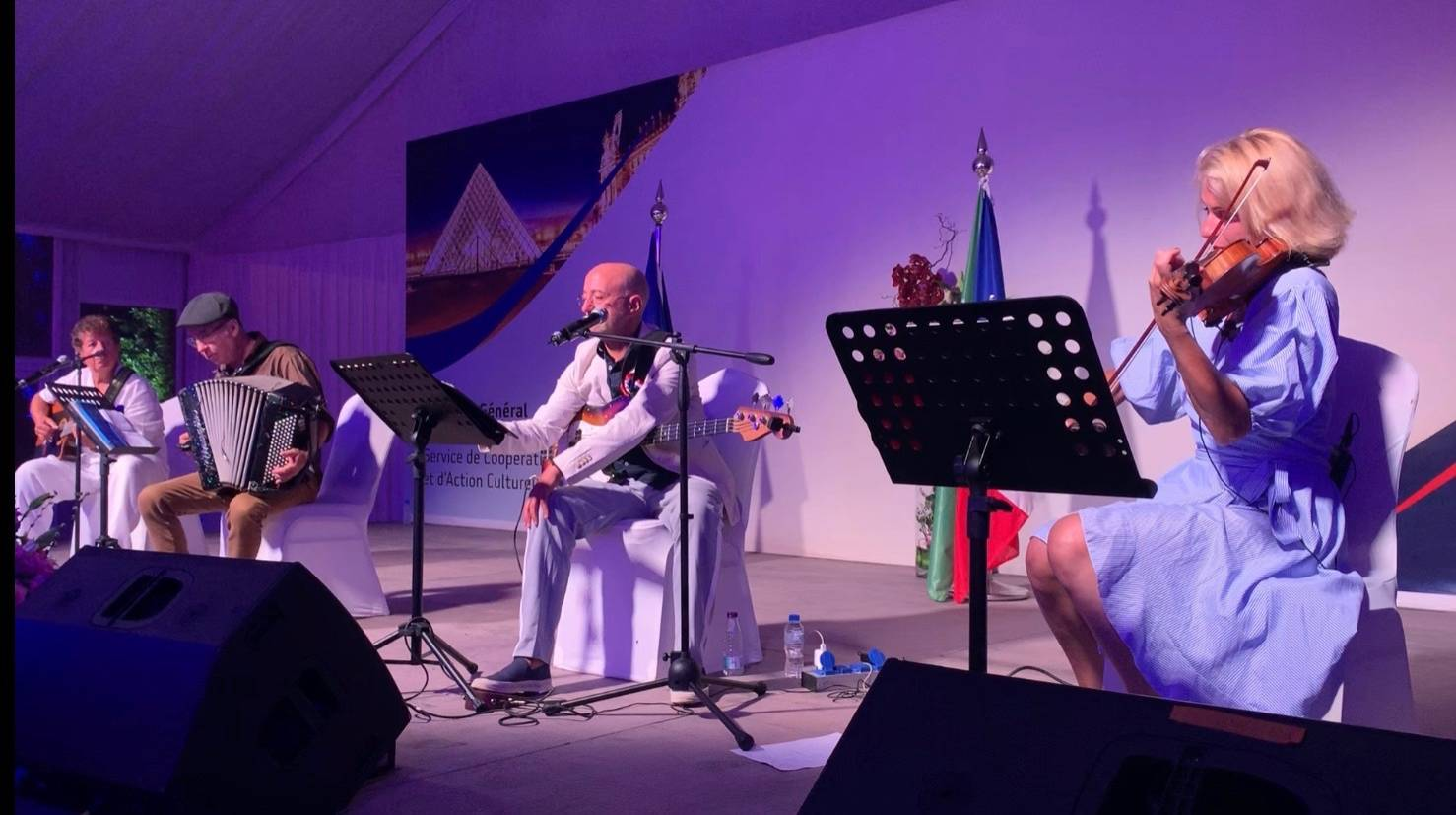 French music played at the 14th of July celebration at the residence of the French Consul General. — SG photos by Abdulaziz Hammad