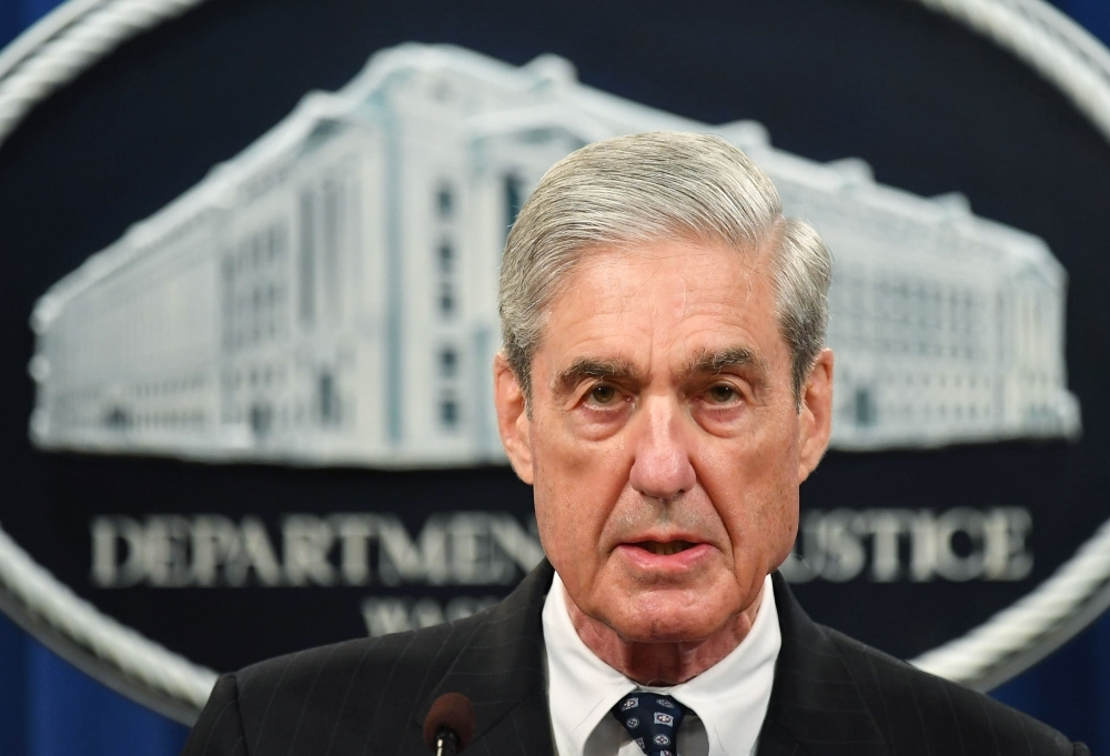 In this file photo taken on May 29, 2019 Special Counsel Robert Mueller speaks on the investigation into Russian interference in the 2016 Presidential election, at the US Justice Department in Washington, DC. -AFP photo
