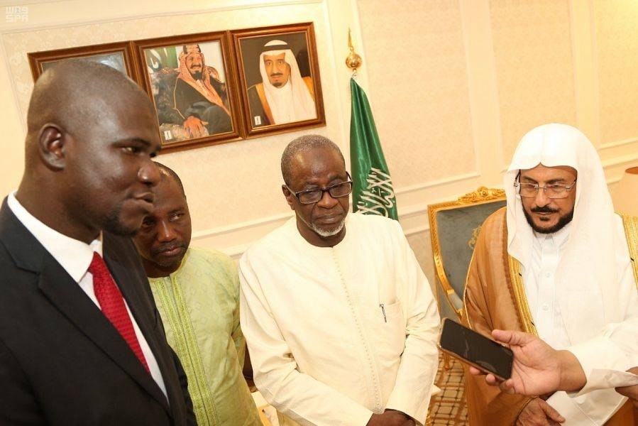 Gambian Minister of Religious Affairs Haj Musa Drammeh called on the Minister of Islamic Affairs, Call and Guidance Sheikh Dr. Abdullatif Bin Abdulaziz Al-Asheikh. — SPA