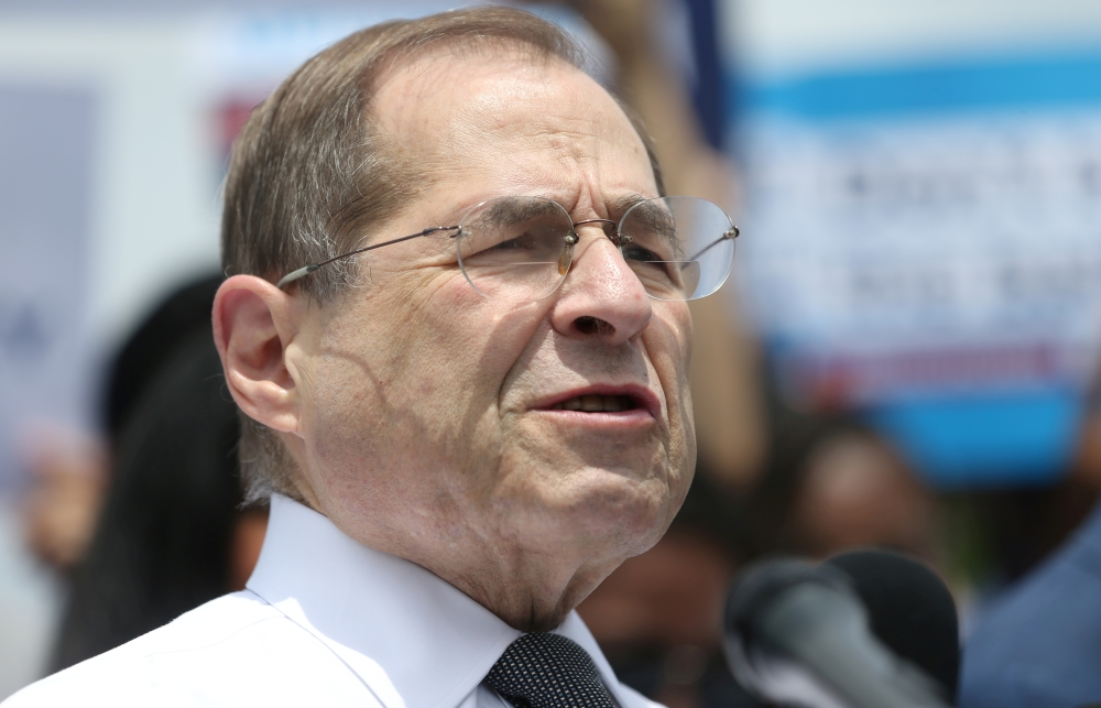 US. Rep. Jerrold Nadler speaks at a news conference held by Democrats on the state of voting rights in America the US Capitol Building in Washington, US, in this June 25, 2019, photo. —Reuters
