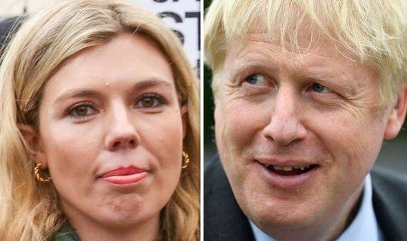 Boris Johnson, right, and his girlfriend Carrie Symonds, left, are seen in this file combination picture. — Courtesy photo