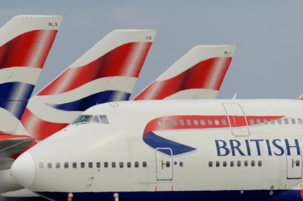 A British Airways (BA) Boeing 747 is seen as it  taxis at Heathrow Airport in west London  in this file photo. — Reuters
