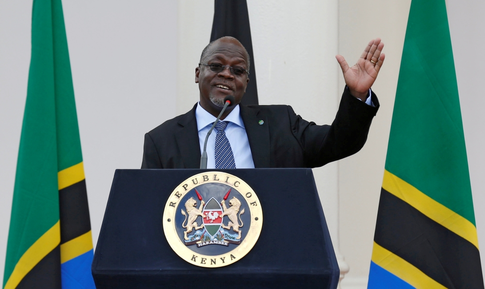 Tanzania's President John Magufuli addresses a news conference during his official visit to Nairobi, Kenya, in this Oct. 31, 2016 file photo. — Reuters