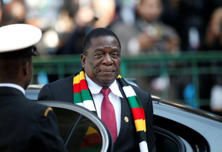 Zimbabwe President Emmerson Mnangagwa campaigned in last year's elections vowing to revive the country's sickly economy. –Courtesy photo