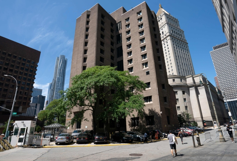 The Metropolitan Correctional Center where financier Jeffrey Epstein was being held, in New York is seen, in this Aug. 10, 2019 file photo. — AFP