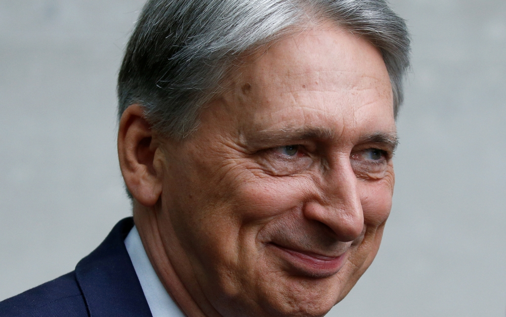 Britain's Chancellor of the Exchequer Philip Hammond leaves the BBC studios in London in this July 21, 2019 file photo. — Reuters