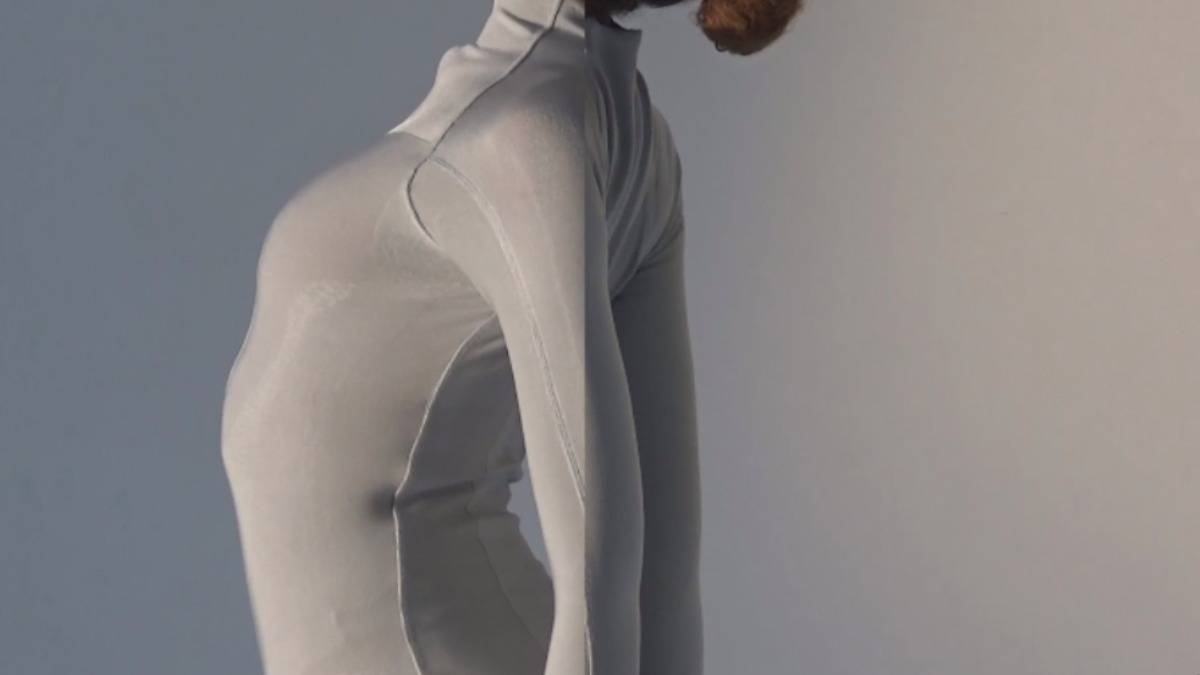 A model wears a bacteria-infused Skin II bodysuit which is claimed to improve body odor, encourage cell renewal and boost the immune system. –Courtesy photo