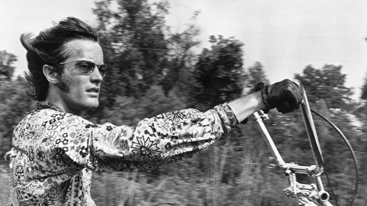 American actor Peter Fonda as Wyatt in the 1969 film Easy Rider.