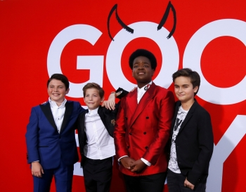 Cast members Keith L. Williams, Jacob Tremblay, Brady Noon and Chance Hurstfield at the premiere for the film