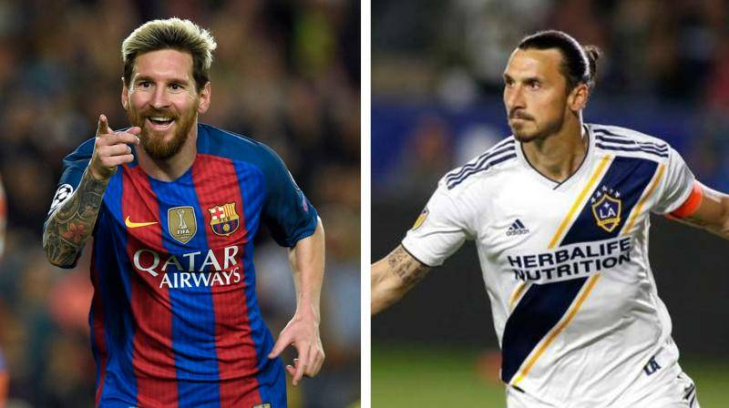 Lionel Messi and Zlatan Ibrahimovic are the star names on the 10-player short-list announced on Monday by FIFA for its Puskas award for goal of the year. — AFP
