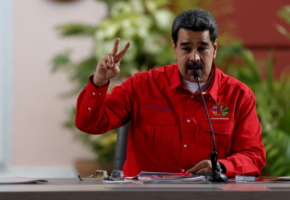 Venezuela's President Nicolas Maduro speaks at a meeting of the Sao Paulo Forum in Caracas, Venezuela, in this July 28, 2019 file photo. — Reuters