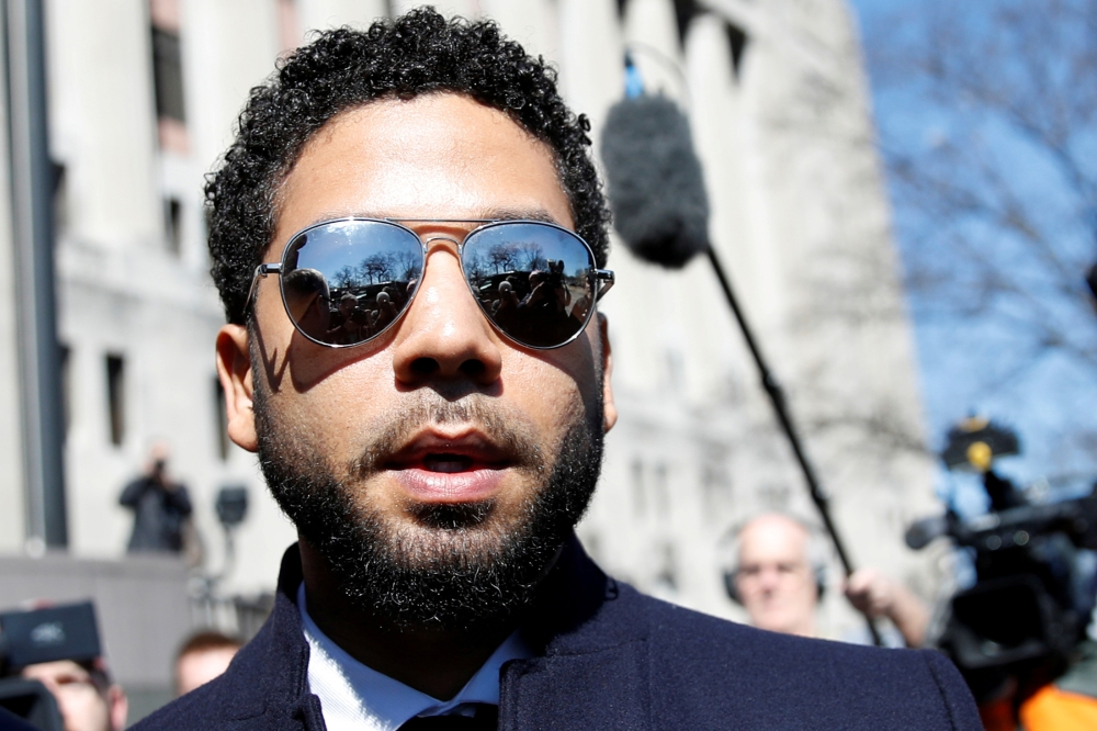 Actor Jussie Smollett leaves court after charges against him were dropped by state prosecutors in Chicago, Illinois, in this March 26, 2019 file photo. — Reuters