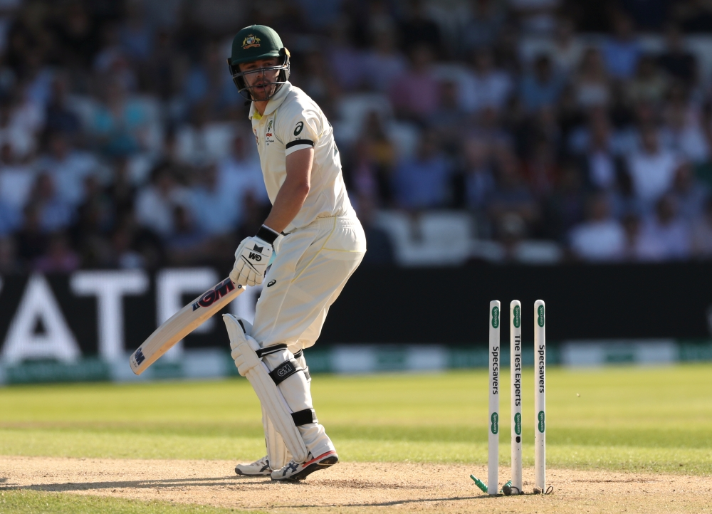 Australia's Travis Head is bowled out by England's Ben Stokes during the third Test at Headingley, Leeds, Britain, on Friday. — Reuters