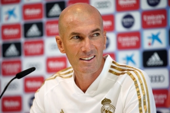 Real Madrid coach Zinedine Zidane during the press conference at Ciudad Real Madrid, Valdebebas, Madrid, Spain, on Friday. — Reuters