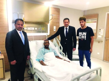 Saudi Ambassador to Turkey Eng. Waleed Abdul Karim Al-Khuraiji is seen in an Istanbul hospital. — SPA