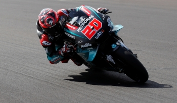 Petronas Yamaha SRT's Fabio Quartararo during practice at Silverstone Circuit, Silverstone, Britain, on Friday. — Reuters