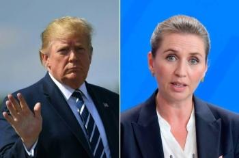 Donald Trump and Danish Prime Minister Mette Frederiksen. –Courtesy photo