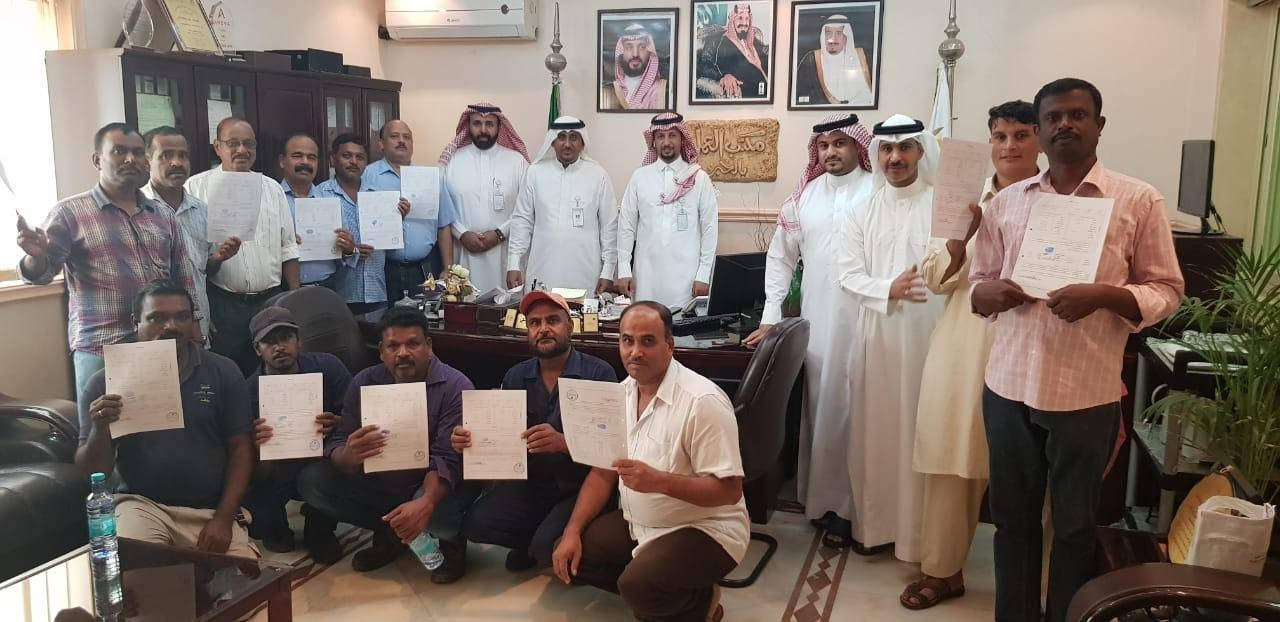 The claims of expatriates were settled by the Department of Friendly Settlement at the Labor Office in Al-Khobar in the Eastern Province. — Courtesy photo