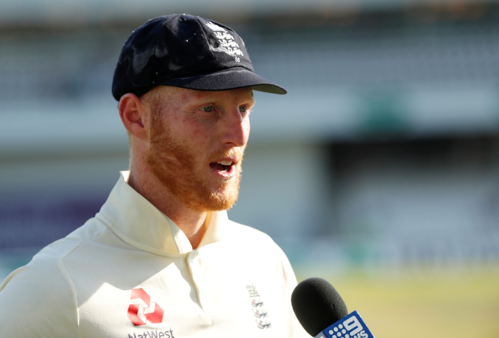 England's Ben Stokes is interviewed after winning the Ashes third Test at Headingley, Leeds, Britain, on Sunday. — Reuters