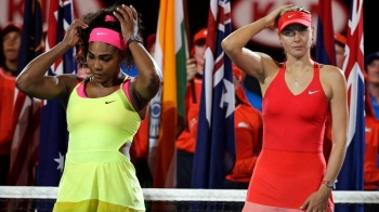 Serena Williams faces Maria Sharapova in a blockbuster first-round match at the US Open on Monday. — Courtesy photo