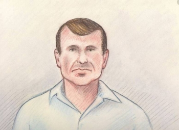 Cameron Ortis, director general with the Royal Canadian Mounted Police's intelligence unit, is shown in a court sketch from his court hearing in Ottawa, Canada on Friday. –Courtesy photo