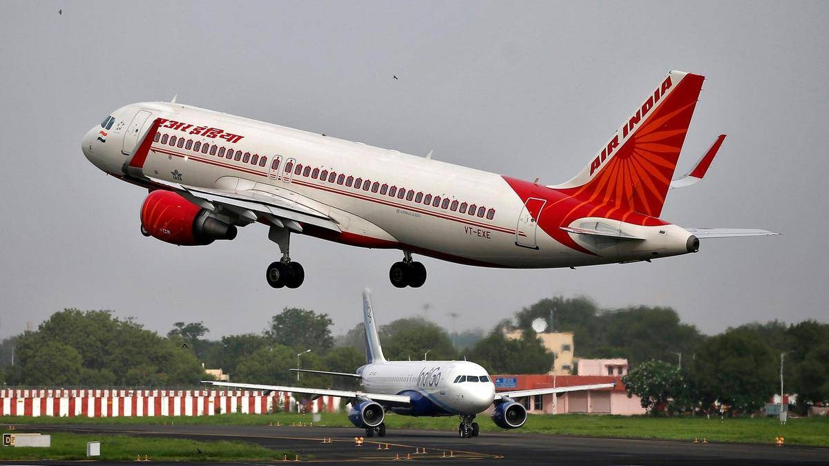 File photo of an Air India passenger plane taking off. — Reuters