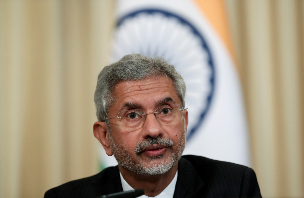 India's Foreign Minister Subrahmanyam Jaishankar attends a news conference after a meeting with Russia's Foreign Minister Sergei Lavrov in Moscow, Russia, in this Aug. 28, 2019 file photo. — Reuters