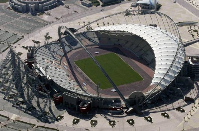 Work on Khalifa International Stadium is ongoing in Doha, Qatar. Hundreds of migrant workers in Qatar have gone without pay and many were forced to return to their home countries without compensation, an Amnesty International Report said.