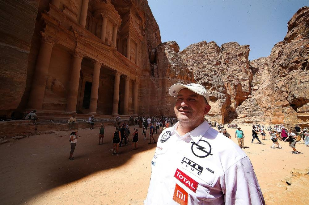 Balazs Szalay on a visit to Petra on Wednesday.