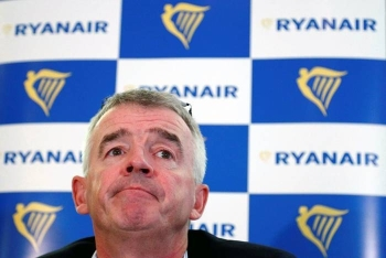 Ryanair CEO Michael O'Leary holds a news conference in Machelen near Brussels, Belgium in this Oct. 9, 2018, photo. — Reuters