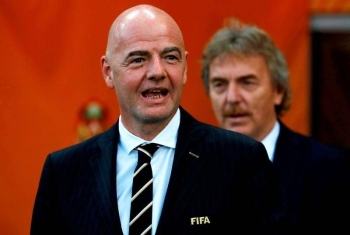 FIFA president Gianni Infantino and Polish Football Association president Zbigniew Boniek after the Under-20 World Cup Final between Ukraine and Korea Republic at the Lodz Stadium, Lodz, Poland on June 15, 2019. — Reuters