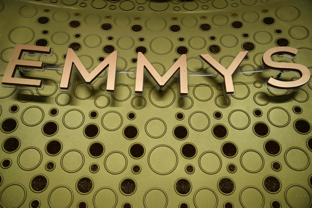 An Emmy Awards logo is pictured ahead of the 71st Emmy Awards on Saturday in Los Angeles, California. — AFP