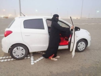 Suha Khouli trains 53 women drivers on streets in planned districts and several other locations of Jazan. — Okaz photo