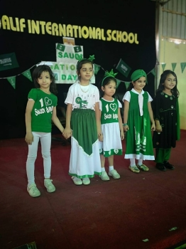 Alif International School celebrates the Saudi National Day. —