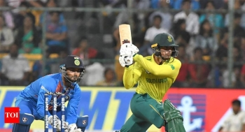 An unbeaten half-century by skipper Quinton de Kock and paceman Beuran Hendrick's strong performance with the ball helped South Africa thrash India by nine wickets to draw their Twenty20 series 1-1 at Bangalore's M. Chinnaswamy Stadium, on Sunday. — AFP