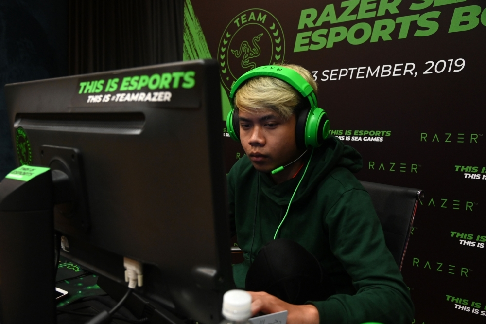 A participant attends an Esports boot-camp training session in Singapore in this Sept. 2, 2019 file photo.  — AFP